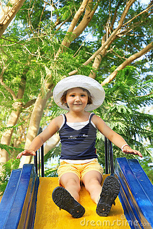 Little Girl on Slide