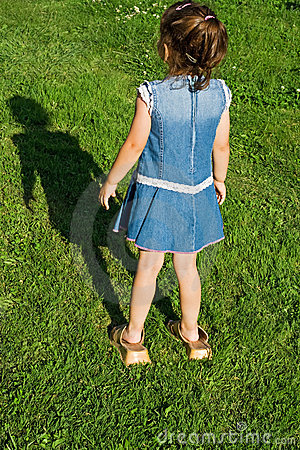 Little Girl With Slip-on Stock Image - Image: 9970971