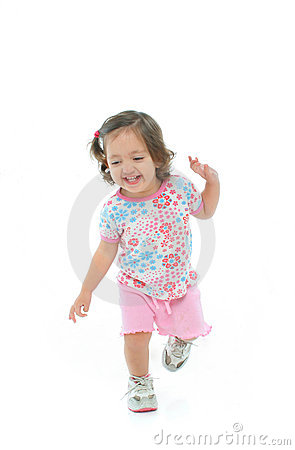 Free Little Girl Smiling And Dancing Stock Photos - 852183