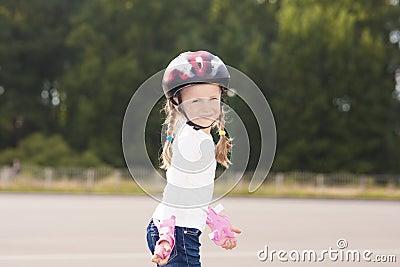 Little girl spending time outside