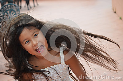 little girl spinning