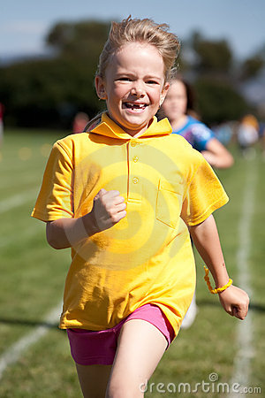 Little girl in sports race