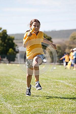 Little girl in sports race