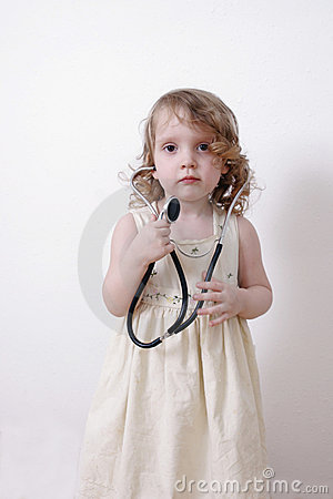 Little girl with stethoscope