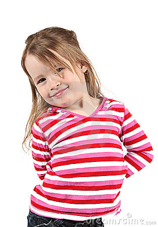 Little girl in striped shirt