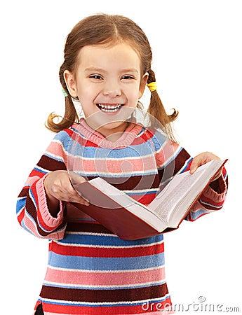 Little girl in striped sweater