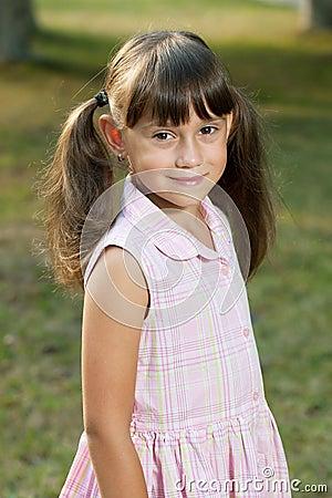 Little girl in a summer dress
