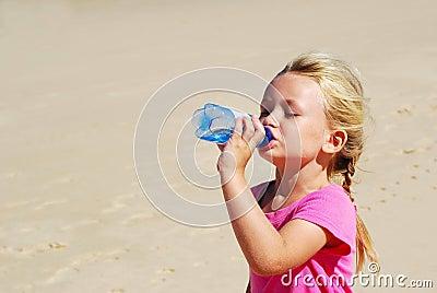 Little girl thirsty