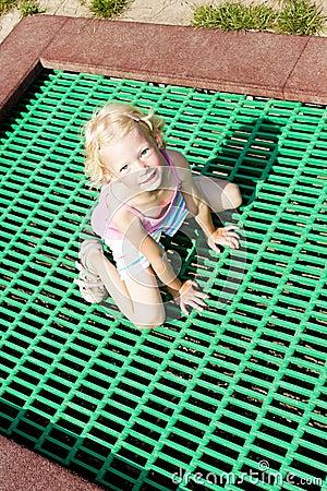 Little girl trampoline