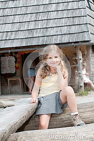 Little girl on trek