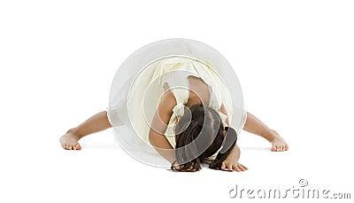 Little girl trying to do the splits