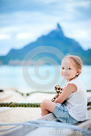 Little girl on vacation