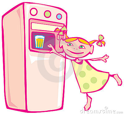 Little girl and vending machine