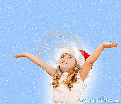 Little girl waiting for the christmas