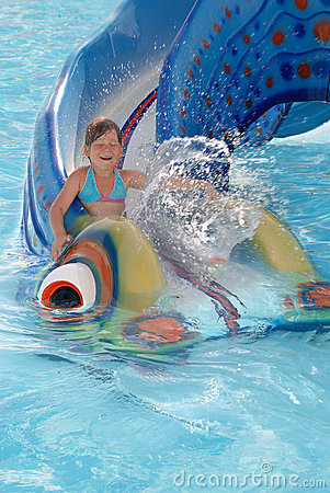 The little girl on water attractions