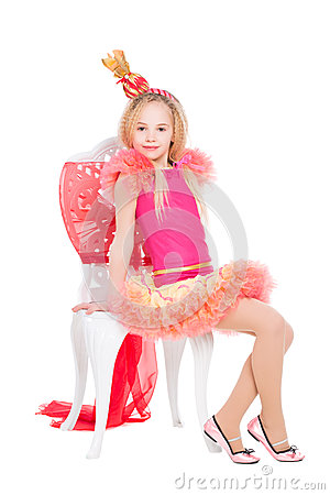 Little Girl Wearing Candy Costume Stock Photo Image