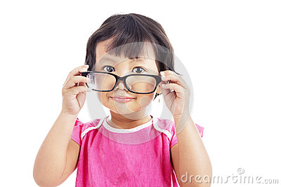 Little Girl Wearing Glasses Royalty Free Stock Photos - Image: 26080298