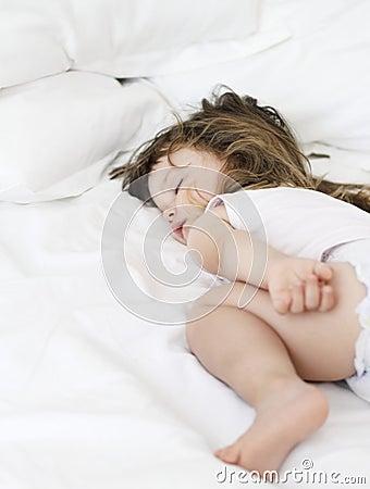 Little girl who sleeps