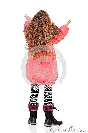 Little girl in winter clothing