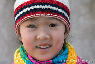 little girl in winter outfits