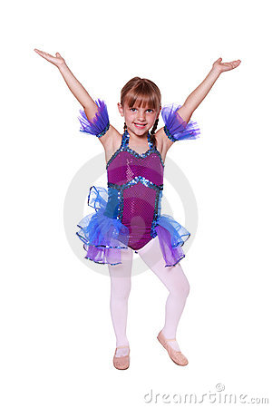 Free Little Girl With Dancing Costume On Stock Photos - 20796783