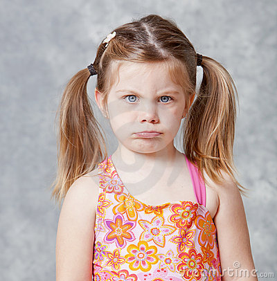 Free Little Girl With Pout Stock Photography - 20535412