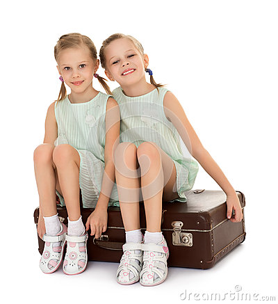 Free Little Girl With Suitcase Royalty Free Stock Photo - 63394235