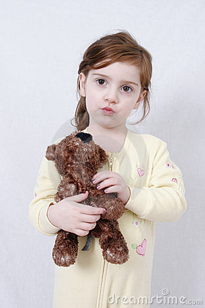 Free Little Girl With Teddy Bear Royalty Free Stock Photos - 471808