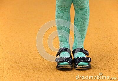 Little girls legs