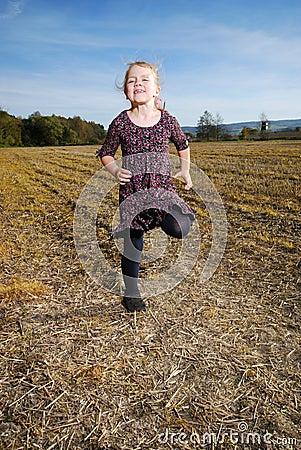 Little girls runs