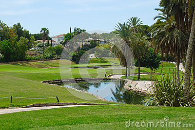 Little golf lake