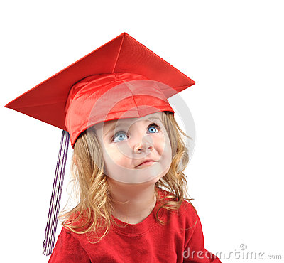Free Little Graduate School Baby On White Royalty Free Stock Image - 26365916
