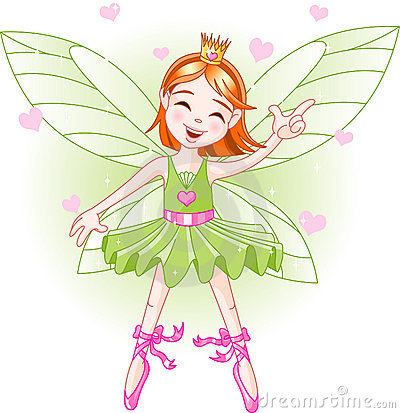 Free Little Green Fairy Stock Photography - 9597792