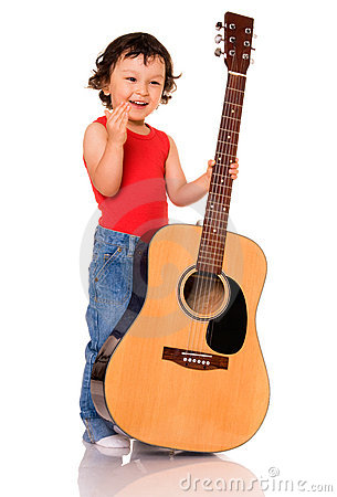 Little guitarist.