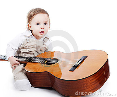 Little guitarist