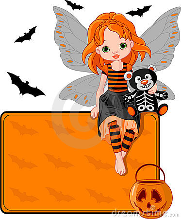 Little Halloween Fairy place card