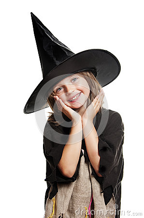 Little happy hallowen witch