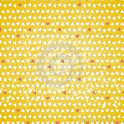 Free Little Hearts On Yellow Background Stock Image - 24143521