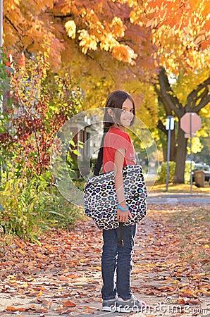 Free Little Hispanic Girl Going Back To School Royalty Free Stock Photo - 27072675