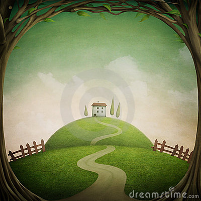 Free Little House On The Hill Royalty Free Stock Photography - 13464477
