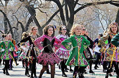 Little Irish Dancers Editorial Photography
