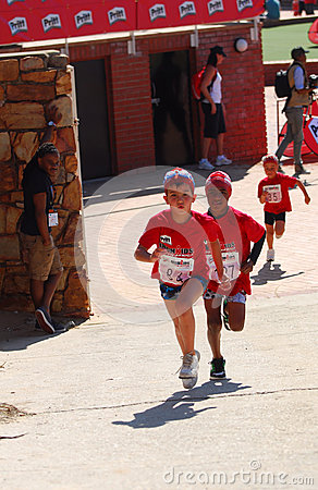 Little Ironkids athletes running Editorial Image