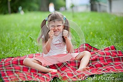 Little irritated girl preschooler