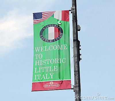 Little Italy flag. Editorial Photo