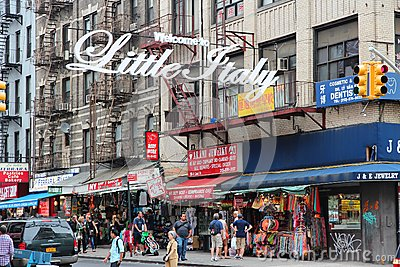 in New York. Little Italy is a famous Italian community in Manhattan ...