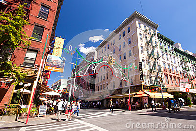 Little Italy NYC Editorial Stock Photo