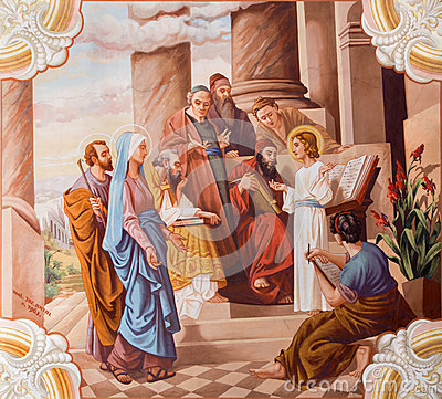 Free Little Jesus Teaching Stock Image - 33588771