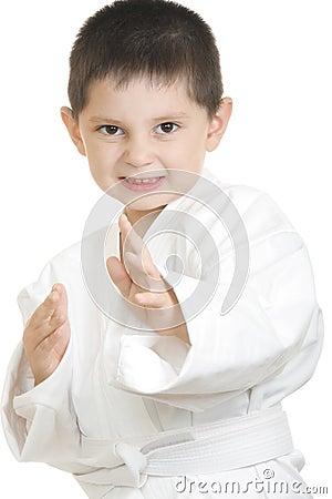 Little karate kid