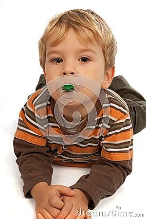 Little kid with dummy