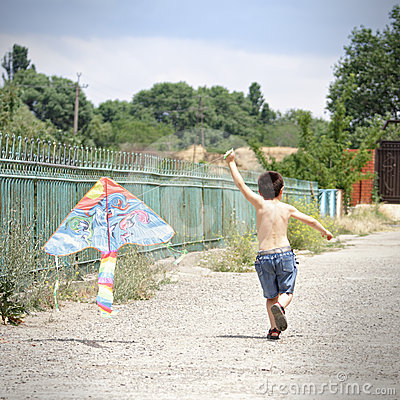 Little kid with kite